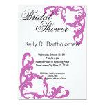 Pink Victorian Flourish Filigree Bridal Shower Card