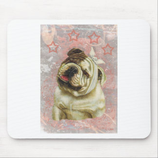 Pink Victorian Hurt Bull Dog With Bandage Mouse Pad
