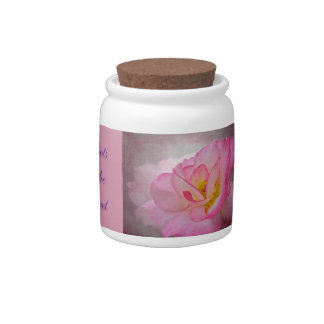 Pink Victorian Rose Candy Jar