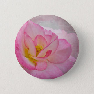 Pink Victorian Rose Pinback Button