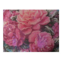 Pink Victorian Roses Postcard