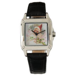 Pink Victorian Santa Claus Watches