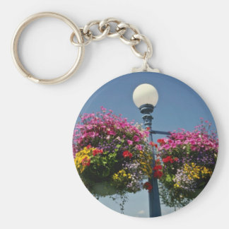 Pink Victoria's famed hanging flower baskets, Cana Keychains