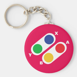Pink Video Game Controller Gamer Keychain