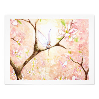 Pink View Blossom Personalized Invites