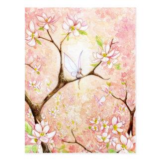 Pink View Blossom Postcard