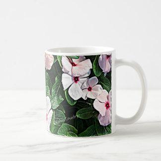 Pink Vinca Flowers Coffee Mug