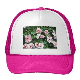 Pink Vinca Flowers Trucker Hat
