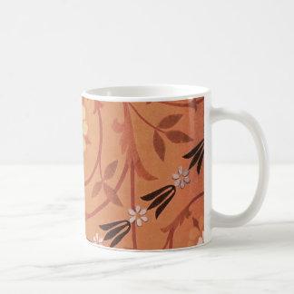 Pink Vine and Vase Textile Coffee Mug
