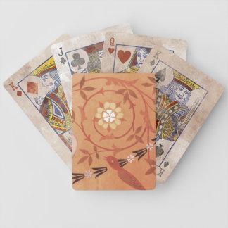 Pink Vine and Vase Textile Card Deck