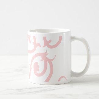 pink vine coffee mug