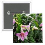 Pink Vine Flower Buttons
