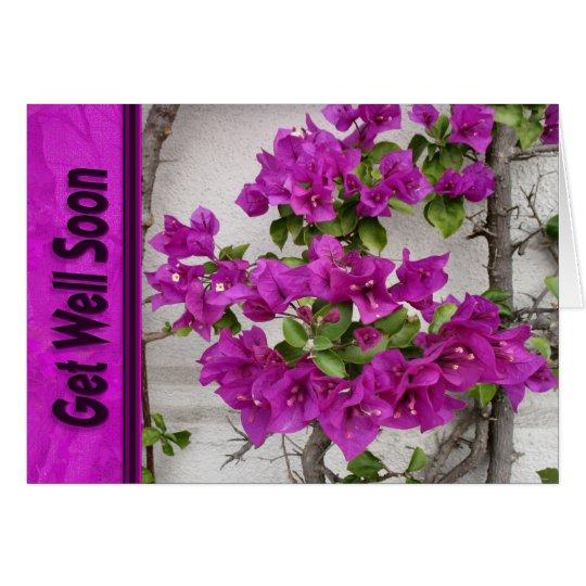 pink vine get well soon card