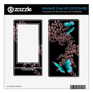 Pink Vines and Butterfly Skin Skin For The Zune HD