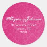 Pink Vintage Background Address Stickers