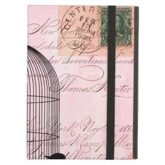 Pink Vintage Bird iPad Air Covers