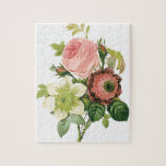 "Pink Vintage Bouquet Jigsaw Puzzle<br><div class=""desc"">I&#39;ve brought you some flowers - but these kind will never wilt! :)</div>"