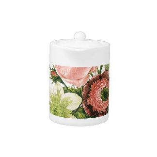 Pink Vintage Bouquet Teapot