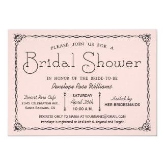 Pink Vintage Bridal Shower Invitations