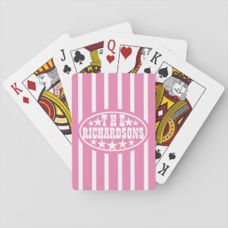 Pink Vintage Carnival Family Playing Cards