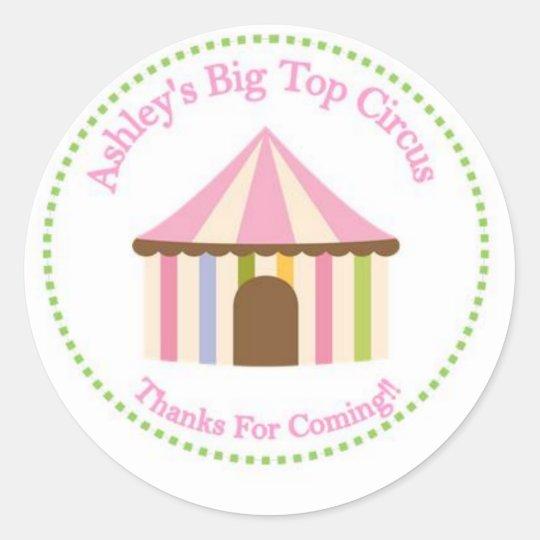 Pink Vintage Circus Sticker
