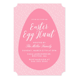 Pink Vintage Easter Egg Hunt Card