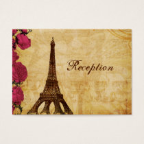 Pink vintage eiffel tower Paris Reception cards