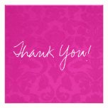 Pink Vintage Flat Thank You Cards Personalized Announcements