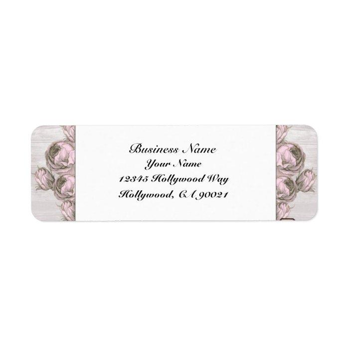 Pink Vintage Floral Address Labels