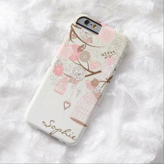 Pink Vintage Floral Birdcages Custom iPhone 6 case