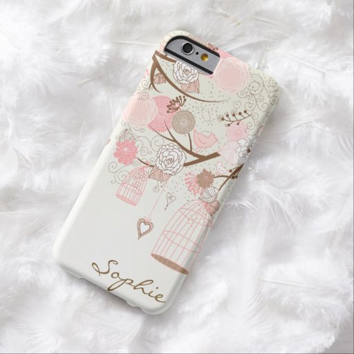 Pink Vintage Floral Birdcages Custom iPhone 6 case