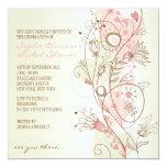 Pink Vintage Floral Bridal Shower Invitations