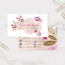 Pink Vintage Floral business cards