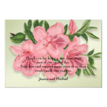 Pink Vintage Floral Photo Wedding Thank You Card