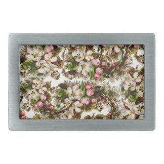 Pink Vintage Flower Bouquets Belt Buckle