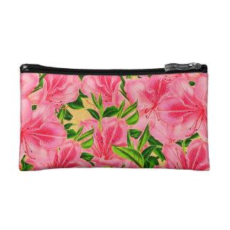 Pink Vintage Flowers Cosmetic Bag
