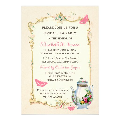 Bridal Tea Party Invitations can inspire you to create best invitation template