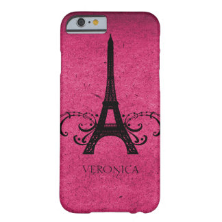 Pink Vintage French Flourish Barely There iPhone 6 Case