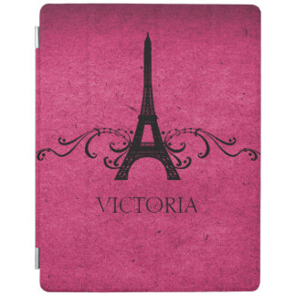 Pink Vintage French Flourish iPad Cover
