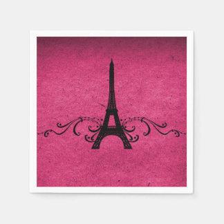 Pink Vintage French Flourish Paper Napkin