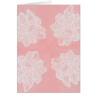Pink Vintage Geode Pattern Card