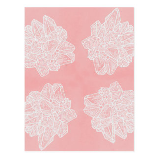 Pink Vintage Geode Pattern Postcard