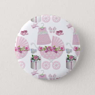 Pink Vintage Its A Girl Button