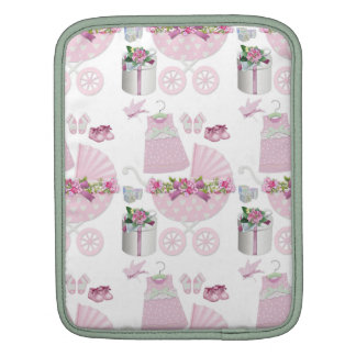 Pink Vintage Its A Girl iPad Sleeves