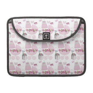 Pink Vintage Its A Girl Sleeves For MacBook Pro