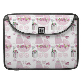 Pink Vintage Its A Girl Sleeve For MacBook Pro