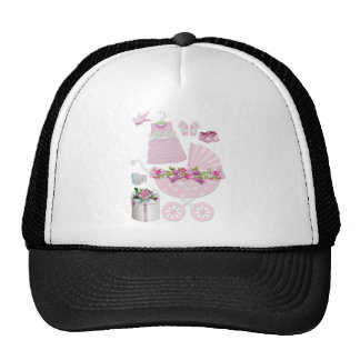 Pink Vintage Its A Girl Trucker Hat