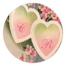 pink vintage label