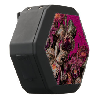 Pink Vintage Oil Brush Painting Black Bluetooth Speaker