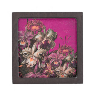 Pink Vintage Oil Brush Painting Jewelry Box